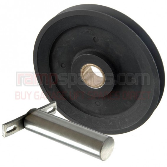 Garage lift pulley and pin set